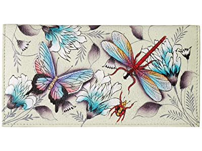 Anuschka Handbags 1056 Checkbook Cover (Wondrous Wings) Clutch Handbags