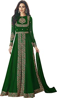 Bipolar Life Women's Faux Georgette Pakistani A-line Semi Stitched Salwar Suit (Free_Size)