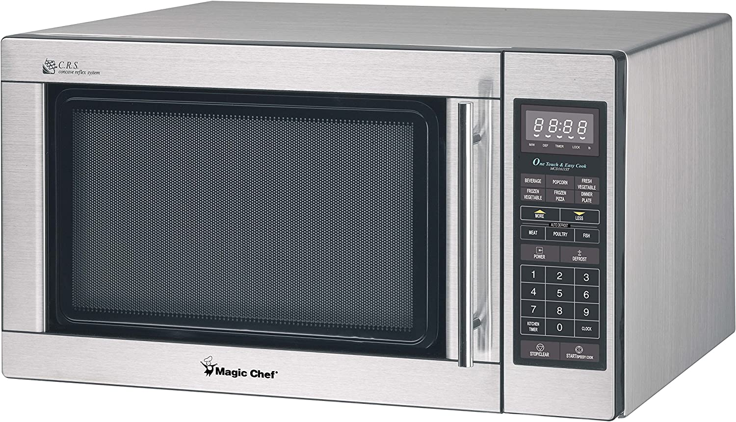 Magic Chef MCM1611ST Stainless Microwave, 1100 W