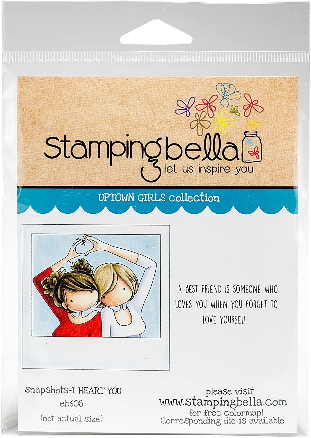 Stamping Bella Uptown Girl Snapshots-I Heart You Cling Stamps
