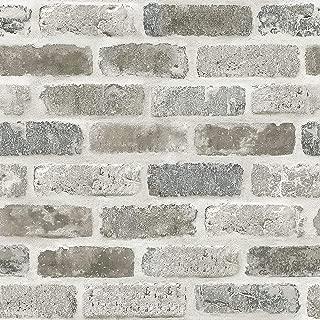 AmazingWall Cement Brick Printing Peel and Stick Self Adhesive Wallpaper,15.7x198inch