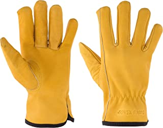 Kids Gardening Gloves, Top Grain Leather Kid Work Glove, Play, Chore Size (Small Ages 3-5)