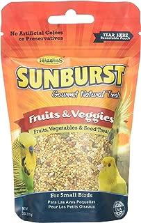 Higgins Sunburst Fruits & Veggies Gourmet Treats Small Birds