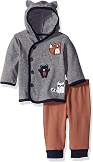 Rene Rofe Baby Boys' 2 Piece Hooded Cardigan and Pant Set for