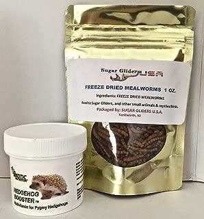 Hedgehog Booster 2 oz Jar with FREE Dried Mealwormx 1 oz. Bag