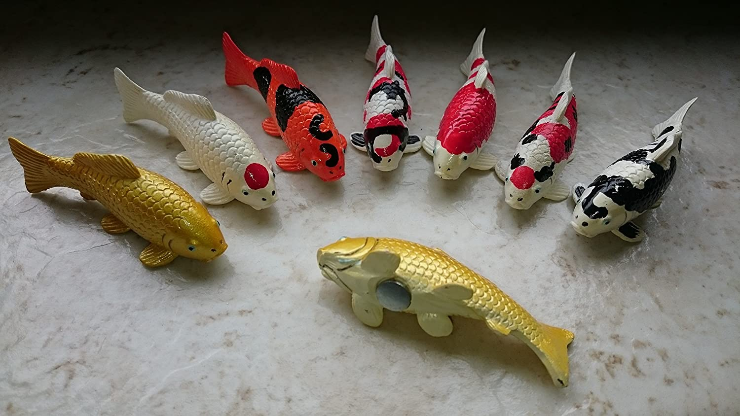 Oker Koi magnets  all seven varieties in a complete set