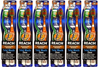 Reach Advanced Design Total Mouth Clean Curved Toothbrush, Soft, 2 Count (Pack of 6) Total 12 Toothbrushes