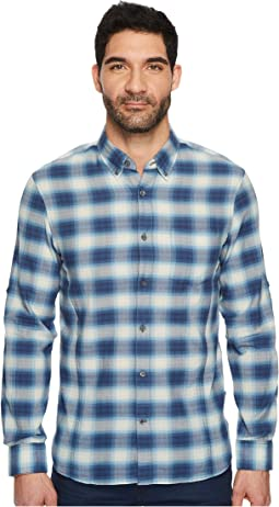 John Varvatos Star U.S.A. - Button Down Short Sleeve Roll-Up Shirt w/ Single Pocket