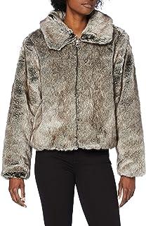 Superdry Boho Faux Jacket Manteau en Fausse Fourrure Femme