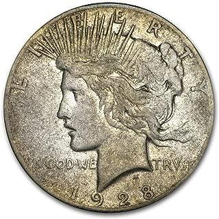 1928 Peace Dollar Fine $1 Fine
