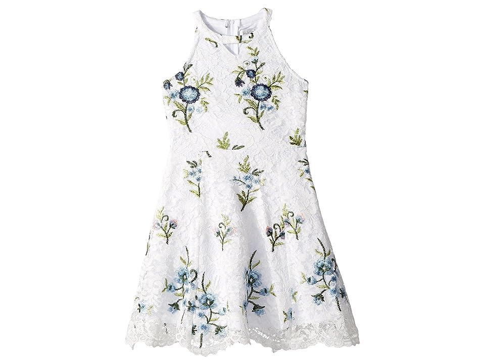 Us Angels Floral Lace Dress (Big Kids) (White) Girl
