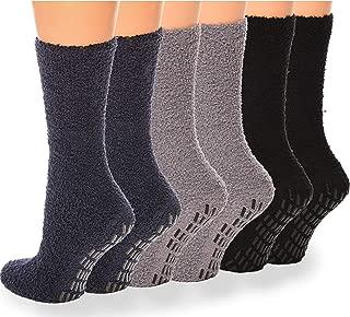 Debra Weitzner Non slip Hospital Socks Women Men Fuzzy Cozy Socks 6 pairs