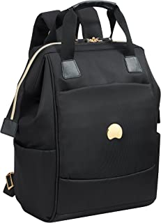 Delsey Paris Montrouge 2-Compartment Backpack Pc Protection Laptop Backpack Black (00201860300)