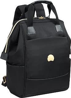 Delsey Paris Montrouge 2-Compartment Backpack Pc Protection Laptop Backpack Black (00201860300)