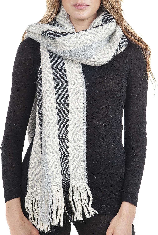 GIULIA BIONDI 100% Made in Italy Wool Scarf Shawl Wrap Pattern Plaid Tartan Fall Winter Heated Long Large Women Men