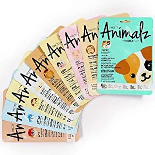 Masque Bar – 9 Piece Pretty Animalz Printed Sheet Masks