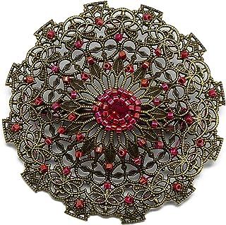 Retro Herz Brosche Weben Japanische rote irisierende Perlen 5,5cm personalisierte Geschenke Weihnachten Jahrestag Hochzeit Zeremonie Gäste Herrin Muttertag Paar