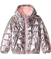 Kenzo Kids - Metallic Pink Puff Nylon Jacket (Big Kids)
