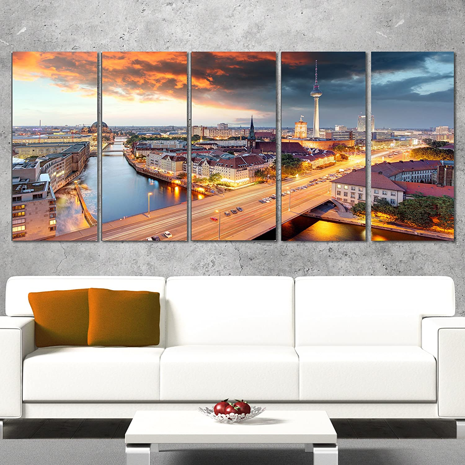 Our shop most popular Max 44% OFF Designart Berlin at Dawn with Canvas Dramatic Sky-Cityscape prin