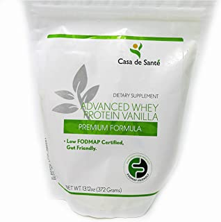 Low FODMAP Certified Protein Powder - Gluten Free, Soy Free, Sugar Free, Whey Protein Isolate, ProHydrolase for 3X Protein Absorption, Gut Friendly, All Natural, 26g protein, non-GMO, Vanilla, 13.12oz