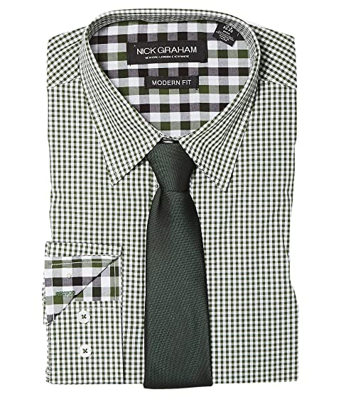 Limited Edition Sale Online Purchase Online Nick Graham Mini Gingham Check Green Discount Marketable o5EjfO