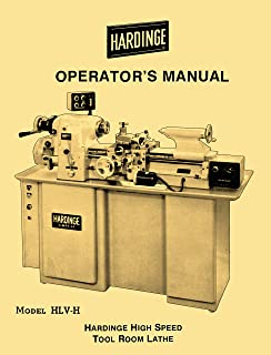 HARDINGE HLV-H High Speed Tool Room Lathe Operator's Manual '60