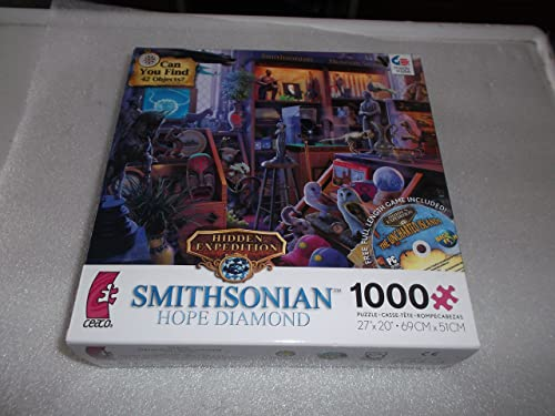 Ceaco Hidden Expedition  Smithsonian Hope Diamond Curator's Desk 1000 Piece Jigsaw Puzzle with CD Game