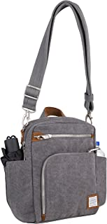 Travelon Anti-Theft Heritage Tour Bag, Pewter (Gray) - 33074 540
