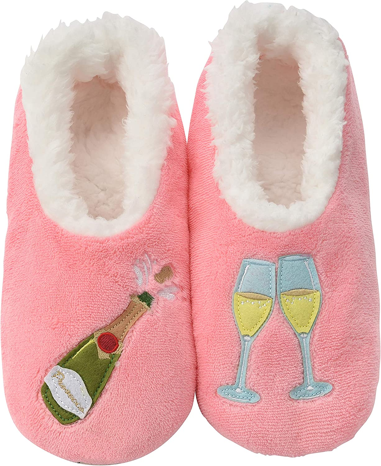 Snoozies Pairables Womens Slippers - House Slippers - Prosecco Pink