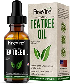100% Pure Organic Tea Tree Oil| Tea Tree Essential Oil Therapeutic Grade for Acne, Ringworm & Fair Lice| Tea Tree Oil for Diffuser| Fight off Eczema & Nail Fungus with Our Pure Tea Tree Oil