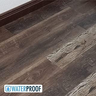 Turtle Bay Floors Waterproof Click WPC Flooring - Rich, Reclaimed Barnwood-Look Floating Floor - Choose from 2 Colors/Grades (Sample, Bozeman)
