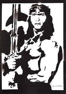 Conan the Barbarian Poster Handmade Graffiti Street Art - Artwork