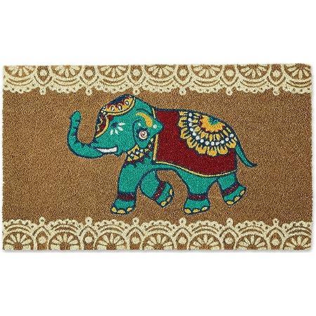 "DII Animal Collection Natural Coir Doormat, 18x30"", Indian Elephant"