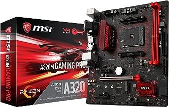 MSI Gaming AMD Ryzen A320 DDR4 VR Ready HDMI USB 3 micro-ATX Motherboard (A320M GAMING PRO)