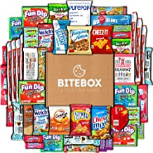 BiteBox Care Package (45 Count) Snacks Cookies Bars Chips Candy Ultimate Variety Gift Box Pack Assortment Basket Bundle Mixed Bulk Sampler Treats College Students Office Fall Final Exams Christmas