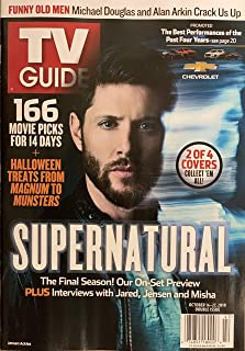 TV GUIDE WEEKLY MAGAZINE - OCT. 14-27, 2019 - SUPERNATURAL 2 OF 4 COVERS ( JENSEN ACKLES )