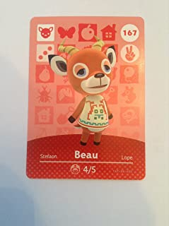 Nintendo Animal Crossing Happy Home Designer Amiibo Card Beau 167/200 USA Version