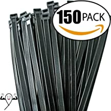Cable ties 12 inch, by Strong Ties. 150 Double Heavy Duty Cable Ties 120lbs Tensile Strength. Super Value Maximum Thickness Black Ties for Indoor and Outdoor Use. UV Resistant