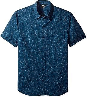 PAIGE mens Becker Short Sleeve Button Down Printed Shirt Button Down Shirt