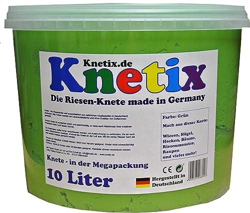 Knetix Knetmasse Kinder Softknete, 10 Liter Knete, Grün