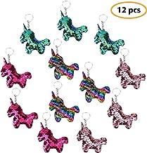 Unicorn Keychains Flip Sequin Keychains Colorful Unicorn Charms Unicorn Party Favors Unicorn Party Supplies Christmas Stoc...