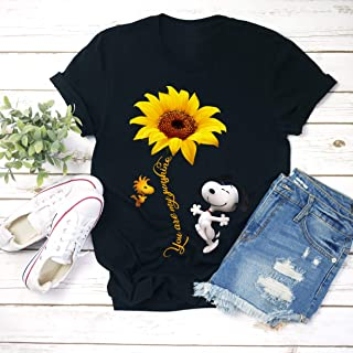 You Are My Sunshine Snoopy Sunflower Snoopy Unisex T-shirt - Premium T-shirt - Hoodie - Sweater - Long Sleeve - Tank Top