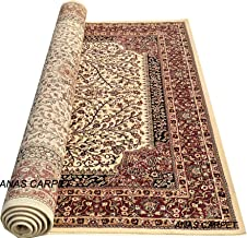 Anas Carpet Kashmiri Traditional Persian Design Carpet for Your Living Room 180X270cm 6 Feet by 9 Feet (Color- Multi)