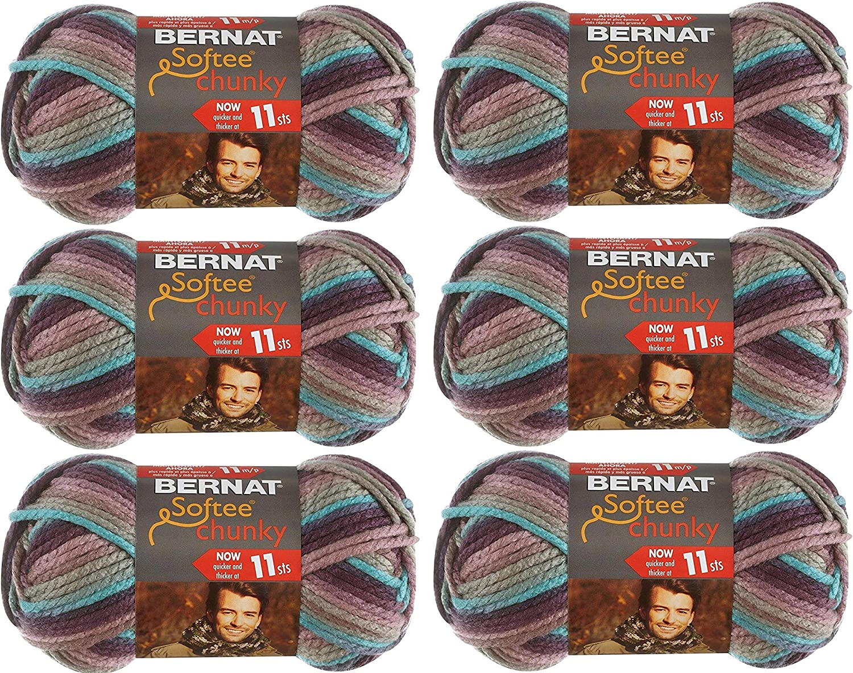 Bernat 161129-29121 Softee Chunky Ombre Yarn - Shadow