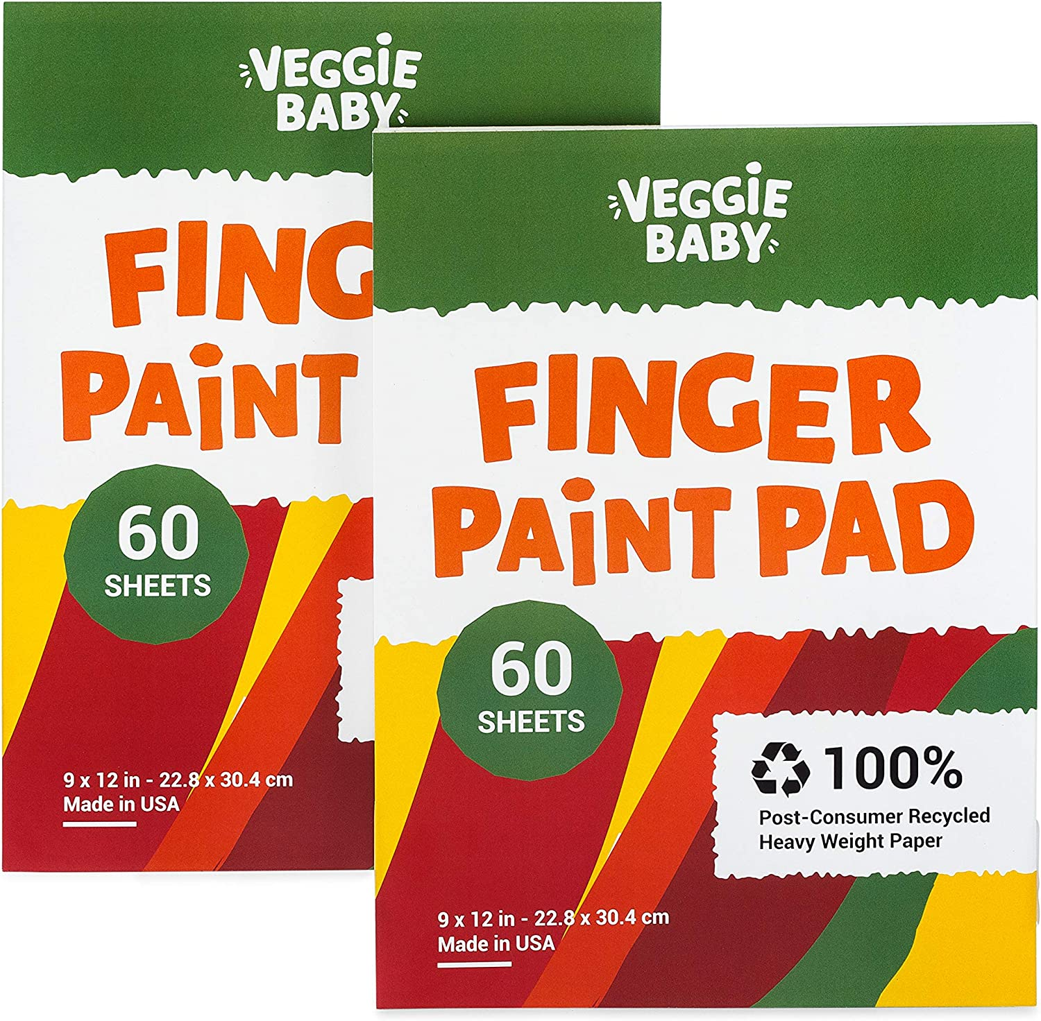 Veggie Baby Art 70% OFF Outlet Paper Pad 2-Pack an for Finger Max 74% OFF Painting Drawing