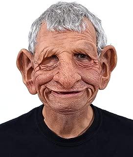 Super Soft Latex Papa Mask a Happy Old Man Tan