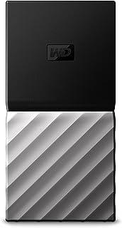 WD 1TB Black/Silver My Passport SSD Portable Storage - USB Type C - WDBK3E0010PSL-WESN