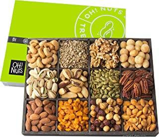 Oh! Nuts 12 Variety Mixed Nut Gift Basket, Holiday Freshly Roasted Healthy Gourmet Snack Gifts| Premium Wood Tray | Prime ...
