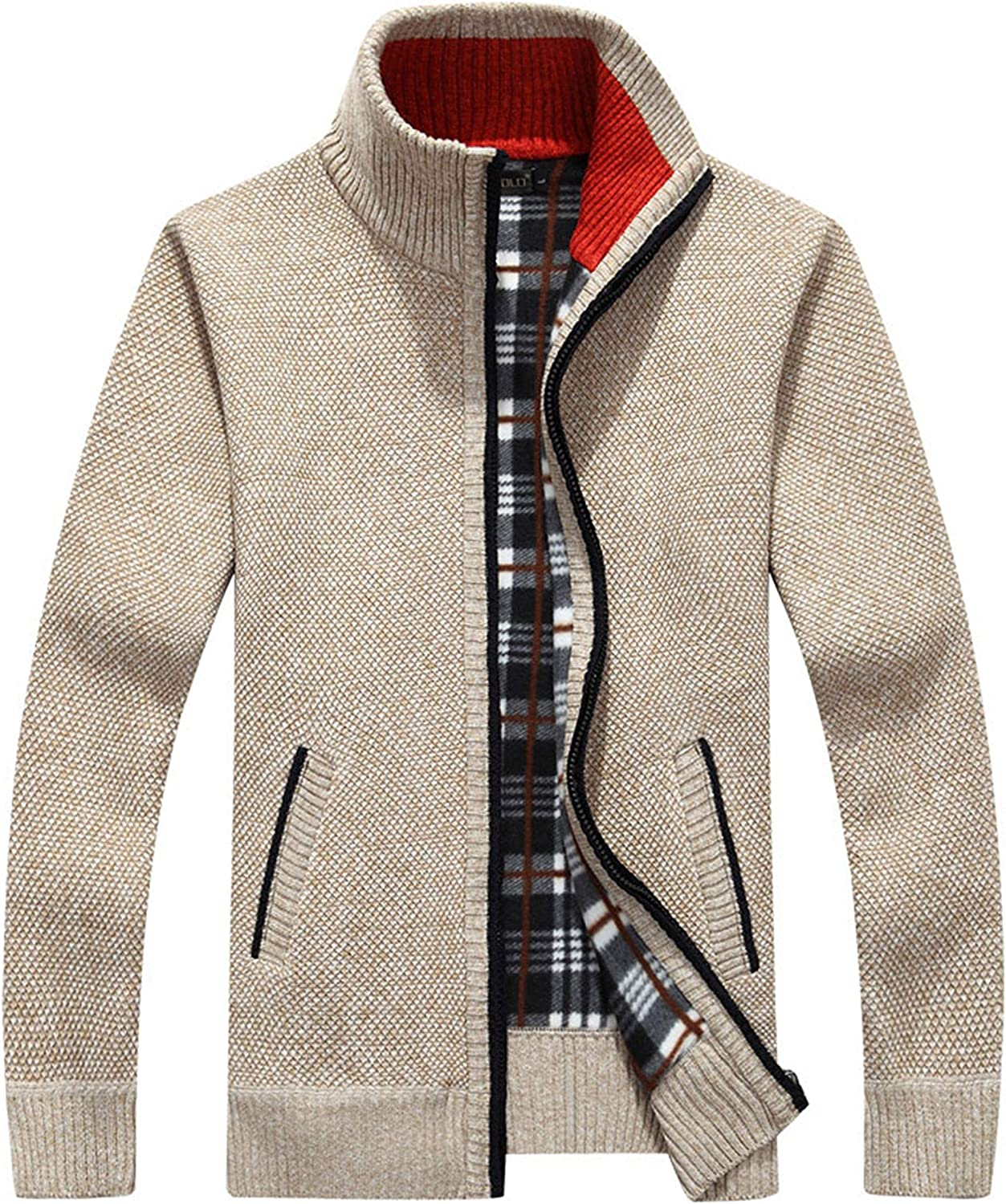 Tanming Men's Casual Winter Thick Cheap mail order specialty store Cardig Full Indefinitely Zip Fleece Knitted