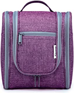 Hanging Travel Toiletry Bag Cosmetic Make up Organizer for Women and Men (Purple)